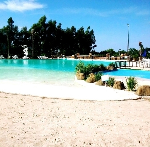 swimming pool sand